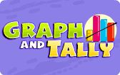 This is a lesson on tally chart and graphs. In this math game, kids will learn to collect data by taking surveys and using a tally chart and graph to record and organize information.