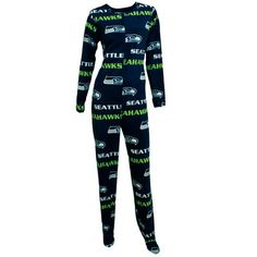 Women's Concepts Sport College Navy Seattle Seahawks Façade Union Suit Pajamas