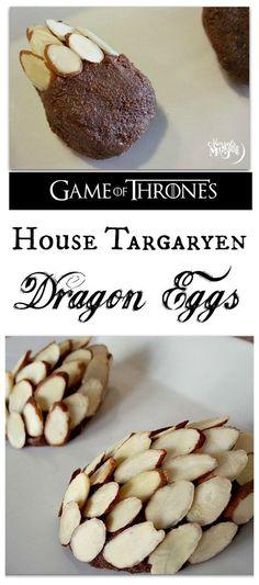Game of Thrones Premiere Party Recipe: House Targaryen Dragon Eggs (aka Fudgy Chocolate Truffles) Game Of Thrones Food, Game Of Thrones Party, Game Of Thrones Birthday, Game Of Thrones Premiere, Got Party, Snacks Für Party, Food Themes, Dessert Recipes, Desserts