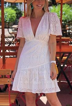 Cute Dresses, Casual Dresses, Fashion Dresses, Casual Summer Outfits, White Outfits, Chiffon Dress, I Dress, Casual Chic, Casual Wear