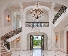 Mansion Stair Backdrop