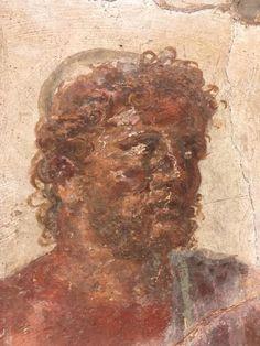Ancient Rome, Ancient Art, Antique Paint, Mosaics, Roman, Faces, Portrait, Classic, Painting