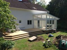 Härlig altan Breezeway, Backyard, Patio, Indoor Outdoor, Outdoor Decor, Terrace Garden, Winter Garden, Image Search, Pergola