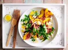 Smoked duck and peach salad - body+soul