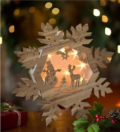 Main image for Lighted Wooden Snowflake Holiday Decor