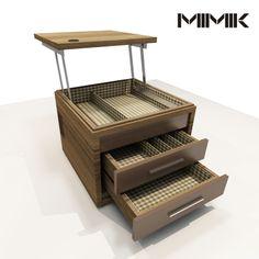 Mimik side table and laptop desk - concept. By Rodrigo Jaroseski