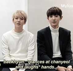 when Chanyeol can't stop looking at Baekhyun's hands p2