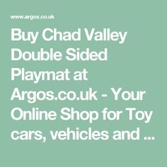 Buy Chad Valley Double Sided Playmat at Argos.co.uk - Your Online Shop for Toy cars, vehicles and sets, Toy cars, trains, boats and planes, Toys.