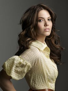 I adore everything about this... Mandy Moore, the dress or shirt, her hair, make-up, the pose!  ||  Marie Claire April 2009
