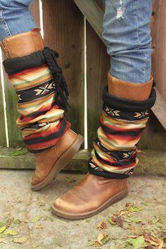 MOJAVE DESERTCotton&Fleece Legwarmers Tribal door handmadebyinali, $60.00