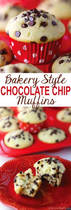 A healthier version of Bakery Style Chocolate Chip Muffins that are gluten-free, dairy-free and made with coconut oil.