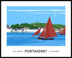 Galway Hookers at Portaferry art print