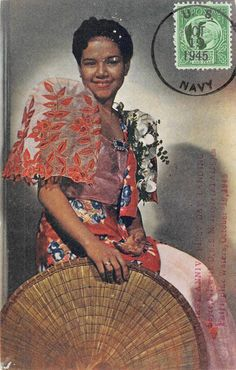 A Filipina in Balintawak Dress. Manila, P. Filipino Art, Filipino Culture, Spanish Dance, Spanish Woman, Modern Filipiniana Gown, Vintage Posters, Vintage Photos, Filipino Fashion, Philippines Culture