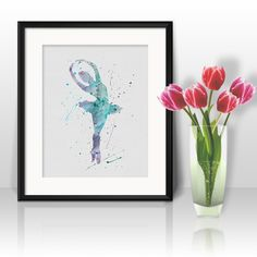 Ballerina watercolor Ballerina art prints Ballerina poster Ballerina home decor