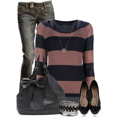 A fashion look from December 2012 featuring Maison Scotch sweaters, Claudia Ghizzani flats and Swarovski necklaces. Browse and shop related looks.