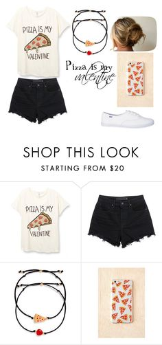 """""""Pizza is my Valentine"""" by katylgriffith ❤ liked on Polyvore featuring Alexander Wang, Venessa Arizaga and pizza"""