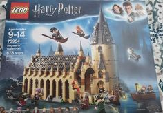 Lego Harry Potter 75954 Wizarding World Hogwarts Great Hall 878 PC 2018 Release for sale online Lego Harry Potter, Harry Potter Castle, Harry Potter Shop, Theme Harry Potter, Harry Potter Movies, Harry Potter Hogwarts, Lego Hogwarts, Hogwarts Great Hall, Lego Sets