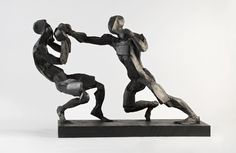 Stunningly dynamic sporting sculptures from Sophie Dickens
