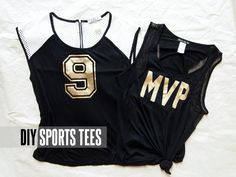 DIY Sports Tee | Sports Luxe | Sports Fashion | Saints Style