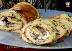 Rotolo di frittata con zucchine e robiola, un piatto completo e ricco di gusto! buonissimo anche a temperatura ambiente.