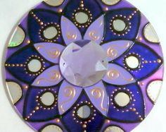 Mandala Luz Violeta em CD reciclado