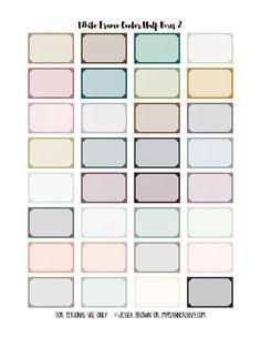 White Frame Center Half Boxes 2 from myplannerenvy.com
