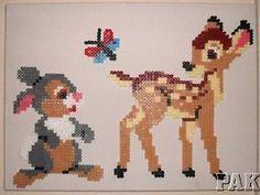 Perler Bead Pattern Disney Characters | ... Bambi-Thumper-Canvas-Wall-Art-Disney-Playroom-Bedroom-Hama-Perler-Bead