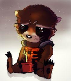 Spoiler Alert Doodled up sad (chibi? Rocket Raccoon belongs to Marvel Comics. Rocket Raccoon, Racoon, Baby Groot, Chibi, Marvel Art, Marvel Dc Comics, Marvel Cartoons, Wonder Woman Comics, Gardians Of The Galaxy