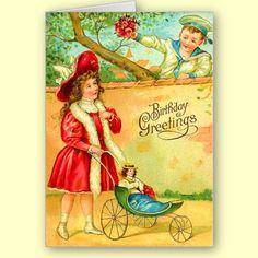 Sweet Vintage Birthday Card