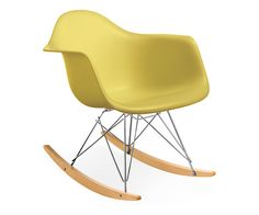 Eames® Molded Plastic Armchair Rocker in Lime by Herman Miller®