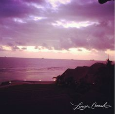 beautiful violet sunrise via @LaurenConrad