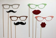 Photobooth Party Props The Double Date by LittleRetreats on Etsy, $25.00