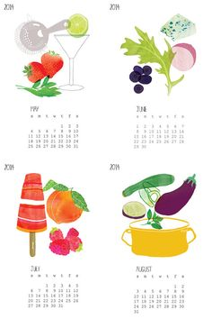 2014 Buy Local Calendar by claudiagpearson on Etsy