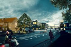 Image 2 of 13 from gallery of Kullegaard Takes First Place in Holbæk HavneBy Design Competition. Photograph by Dimension Design, courtesy of Kullegaard Architecture Visualization, 3d Visualization, Design Competitions, Town And Country, Danish Design, Design Firms, Denmark, Street View, Exterior