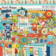 Do The Robot by Jady Day Studio and Meghan Mullens - digital scrapbooking.