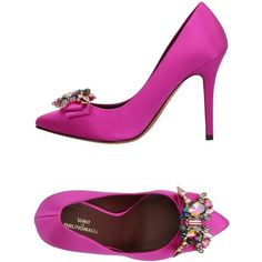 Bruno Magli Pump ($349) ❤ liked on Polyvore featuring shoes, pumps, fuchsia, fuschia shoes, leather sole shoes, stiletto heel pumps, fuchsia shoes and bruno magli shoes