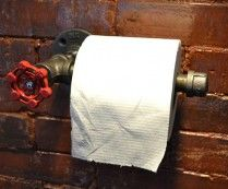 Industrial Steel Pipe Toilet Paper Holder will keep you a manly man even in the bathroom!