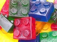 if you have some old lego blocks you never use, all you need to do is clean them then pour jelly mixture into them and you have a great party treat