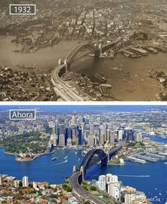 Victoria is the most urbanized and second most occupied in state in the Commonwealth of Australia. Victoria is bounded by Tasmania in the south, South Australia in the west, and New South Wales in the north. Then And Now Pictures, Before And After Pictures, Sydney City, Sydney Harbour Bridge, Sydney Ville, Photos Voyages, Historical Pictures, Tasmania, Australia Travel