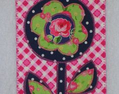 Flower Birthday Mom Friend Card MADE TO ORDER Frame by postquilts