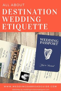 Destination Wedding Etiquette - All your questions answered. Whether you're planning an intimate or a grand affair, advice on all things to do with weddings abroad abraod etiquette. http://www.weddingsabroadguide.com/wedding-abroad-guests.html