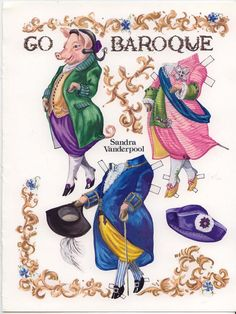 The Pigs Go Baroque paper dolls page 2 http://www.pinterest.com/ejswaim/paper-dolls/