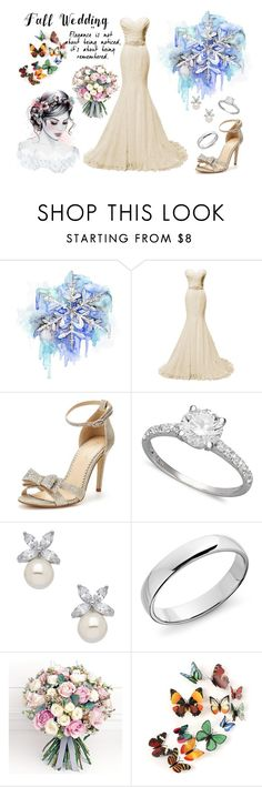 """wedding day"" by isabellesampaio on Polyvore featuring moda, Disney, Carvela, R.H. Macy's & Co., Blue Nile e Philippa Craddock"