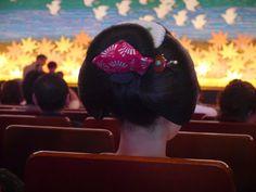 magnifique coiffure, dans le Kaburenjo Theater, Kyoto