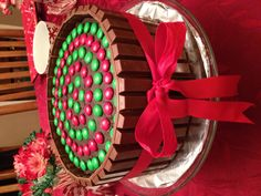Cool Kit Kat Cake but w/recipients favorite colors.