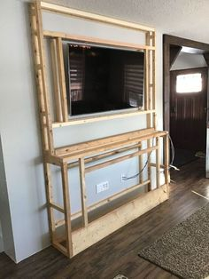 Fireplace Tv Wall, Build A Fireplace, Faux Fireplace, Fireplace Design, Faux Stone Fireplaces, Stone Electric Fireplace, Fireplace Feature Wall, Fireplace Built Ins, Bedroom Fireplace