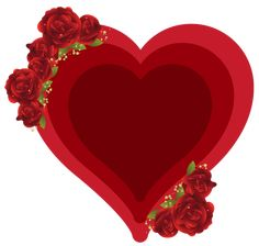 Deco Heart with Roses PNG Clipart Picture