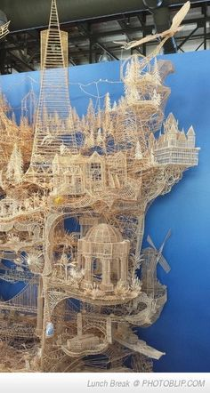 Nothing But Toothpicks. Took 37 Years To Make..this Is Just A Small Part Of It.