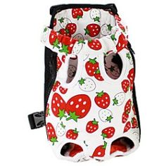 Starwberry Pattern Front Backpack Bag Pet Carrier for Dogs
