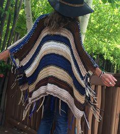 Hip Length Knitted Womens Bohemian Festival Hippie by poshbygosh